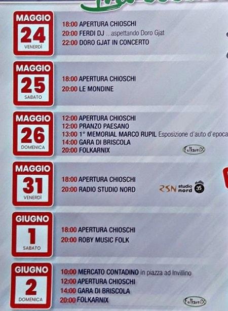 Programma sagra rane 2019 Invillino-2