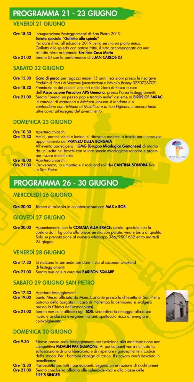 Programma Sagra di Campagnola 2019-2