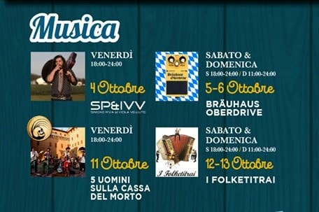 Programma Oktoberfest Cividale 2019-2