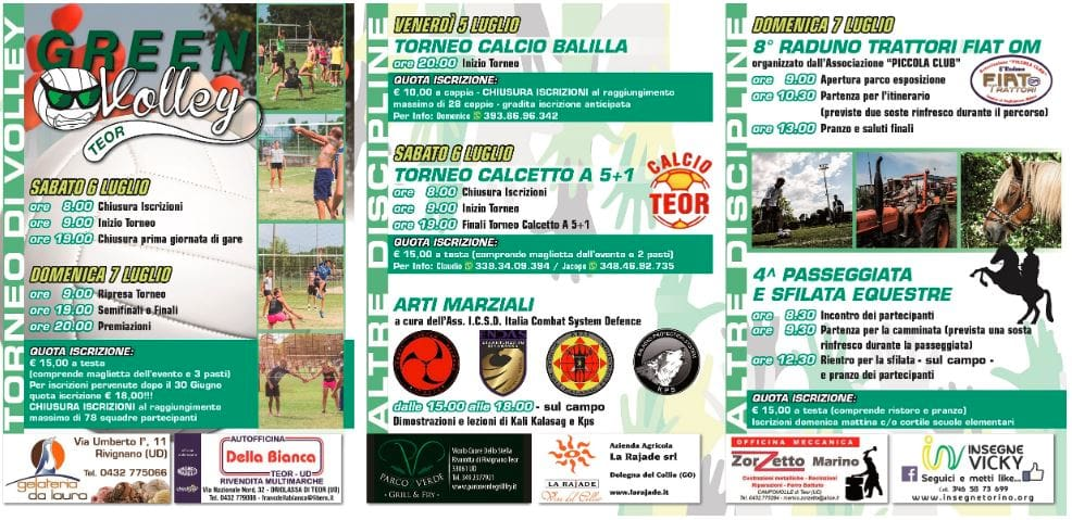 Programma Green Volley Teor 2019-2