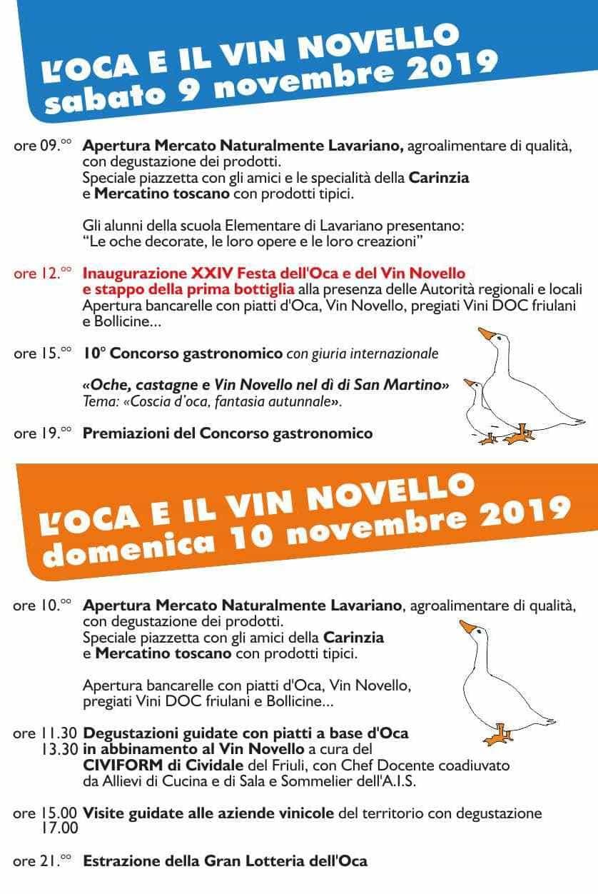 Programma festa Lavariano 2019-2