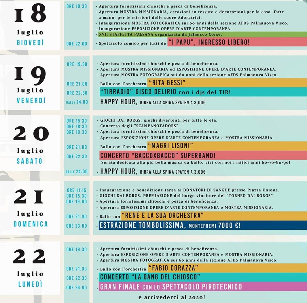 Programma sagra Jalmicco 2019-2
