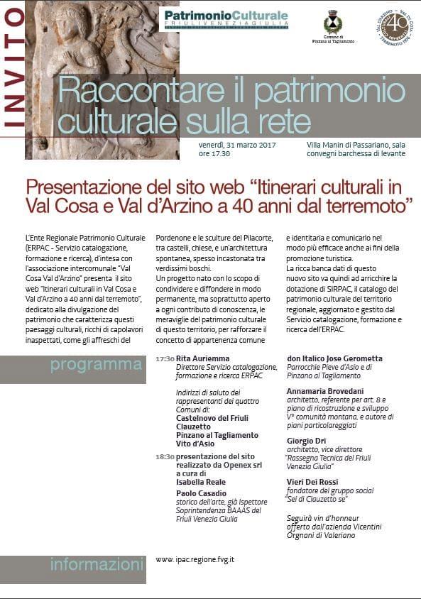 I tesori d'arte e cultura della val Cosa e della val d'Arzino si presentano a Villa Manin-2