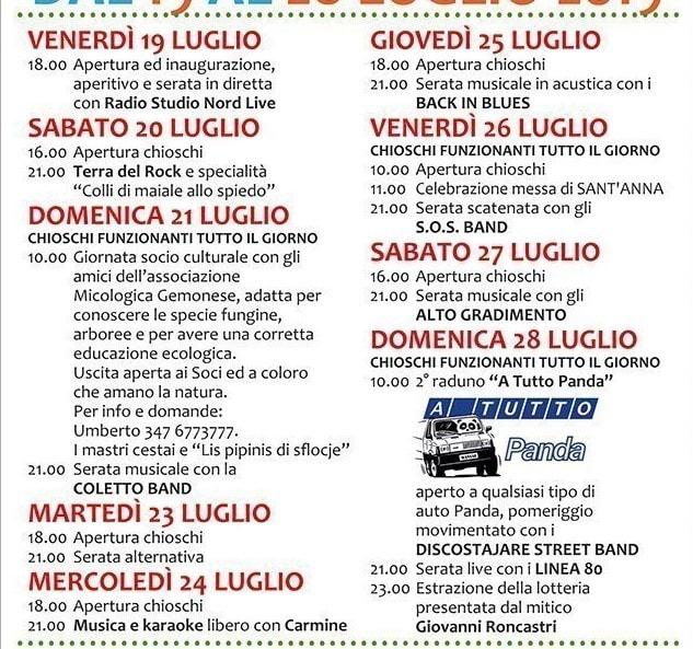 Programma sagra Maniaglia 2019-2