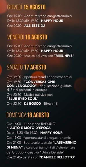 Programma sagra Rivignano 2019-2