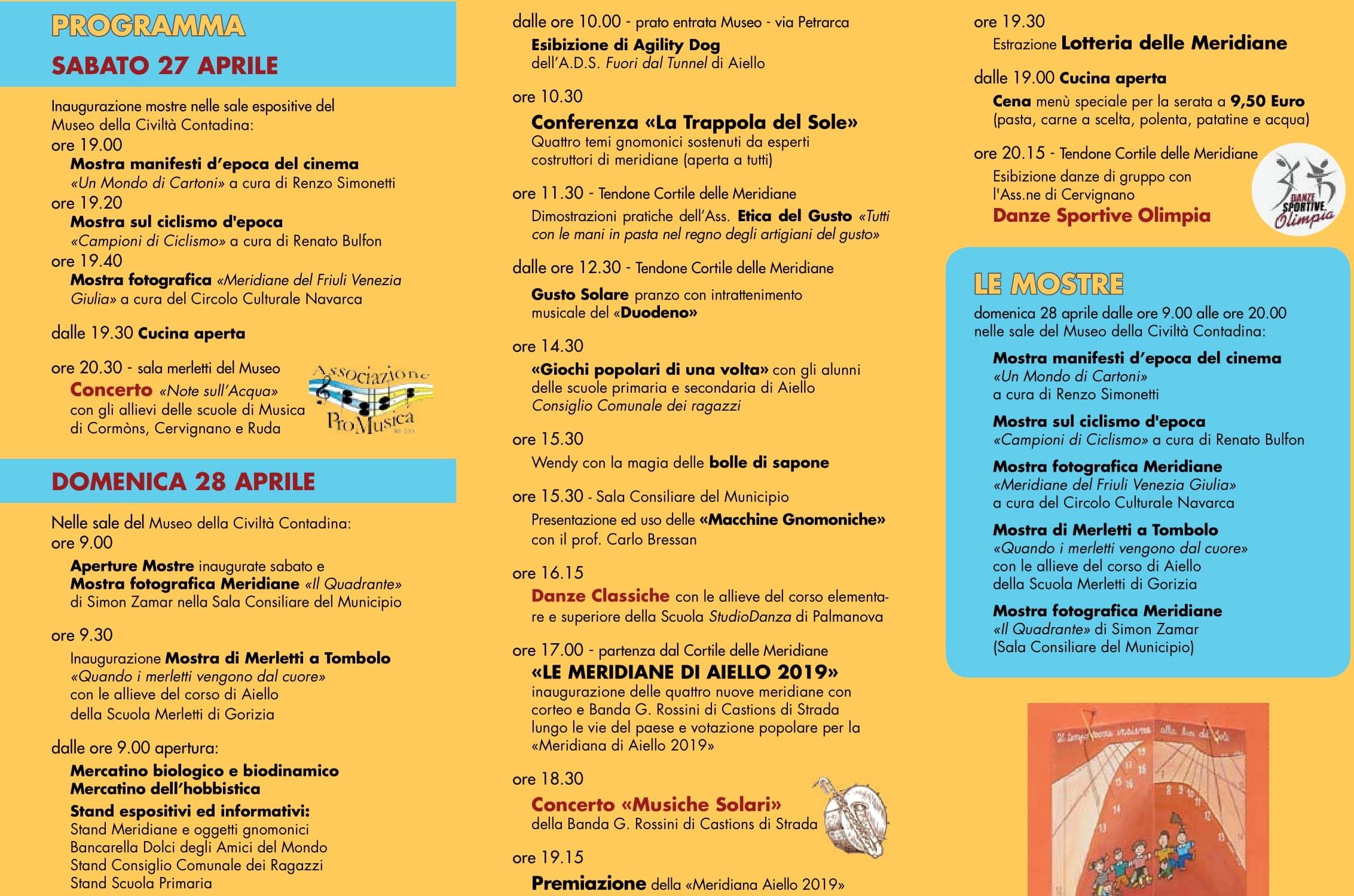 Calendario Cinema Petrarca.Festa Delle Meridiane Ad Aiello 2019 Eventi A Udine