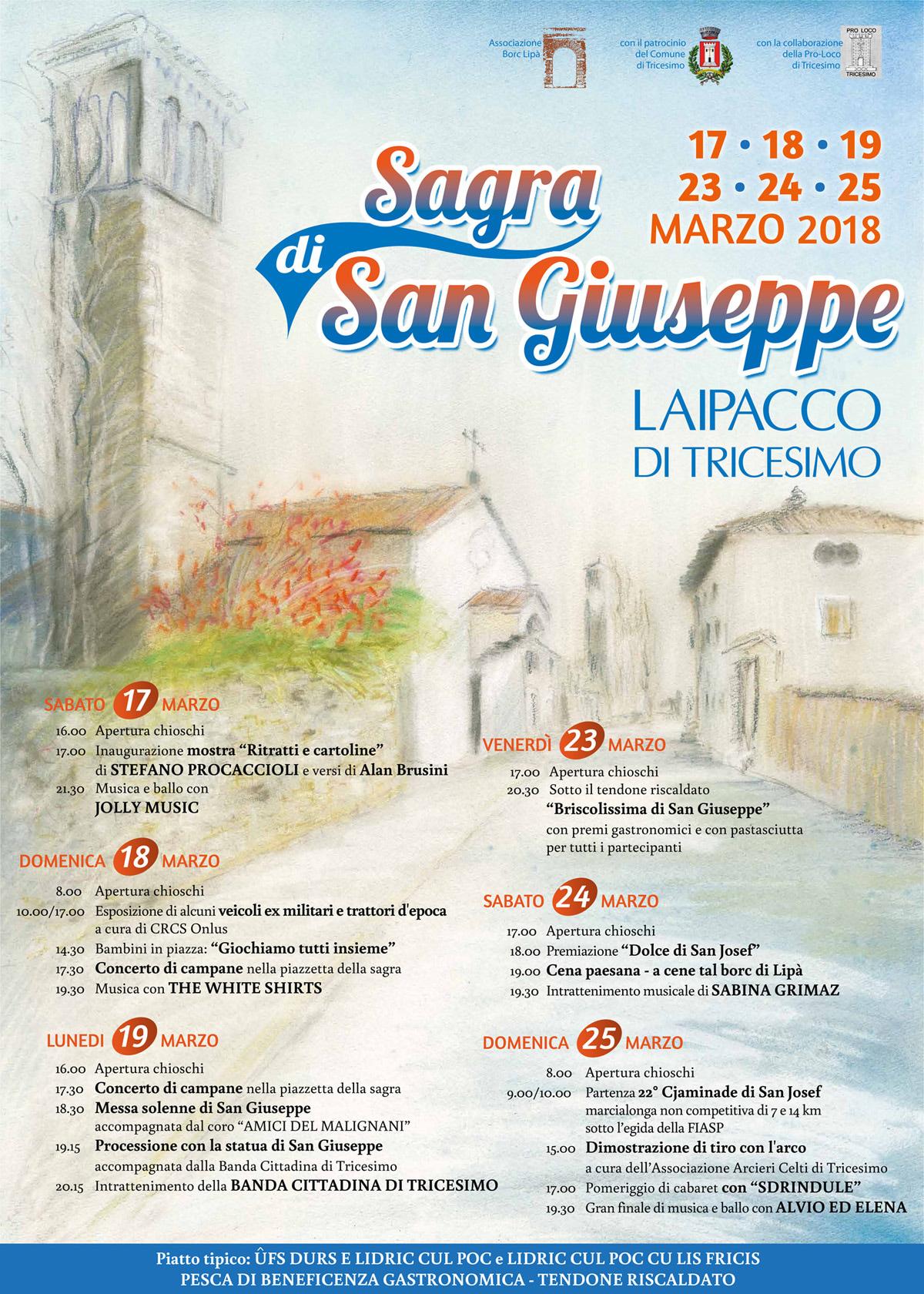 Manifesto Sagra di San Giuseppe 2018-2