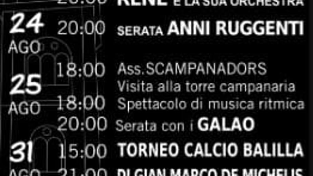 Programma sagra Cassacco 2019-2