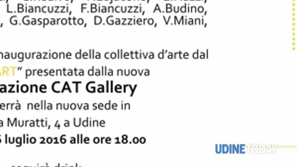 """cat gallery inaugura il nuovo spazio espositivo nel centro di udine con la collettiva d'arte """"start""""-2"""