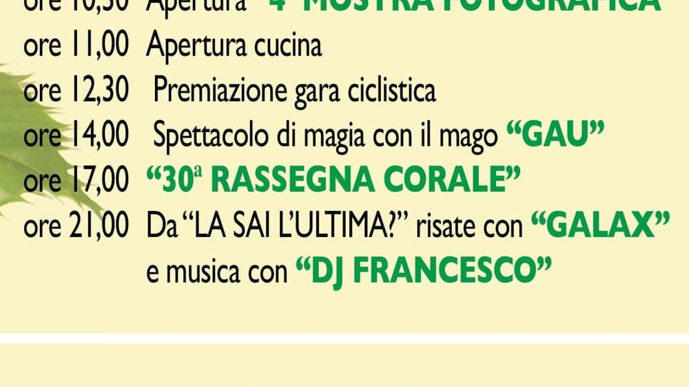 Programma sagra Magnano in Riviera 2019-2