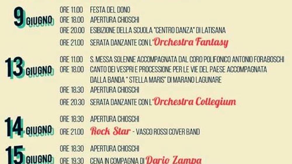 Programma Festeggiamenti di Sant'Antonio 2019-2