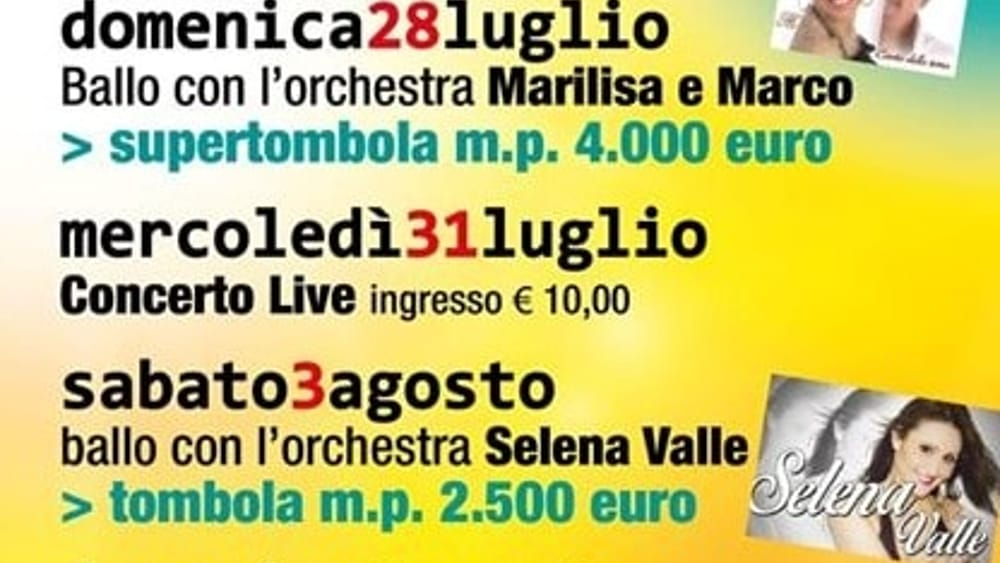 Programma Festa Unità Aquileia 2019-2
