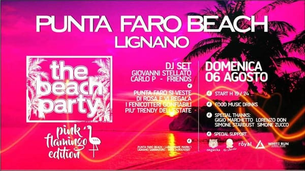Festa in spiaggia con il Punta Faro Beach Party