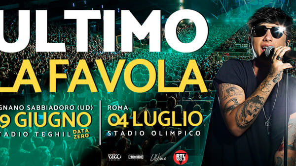 Da Sanremo a Lignano, Ultimo si esibirà live al Teghil a giugno 2019