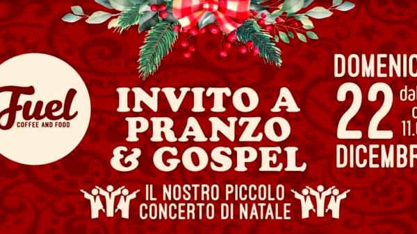 Invito a pranzo e Gospel al Fuel Coffee and Food di Udine