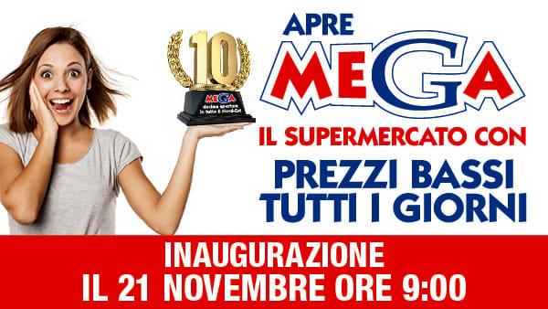 Giovedì 21 novembre il Gruppo Unicomm inaugura un nuovo supermercato a marchio MEGA a Udine (UD)