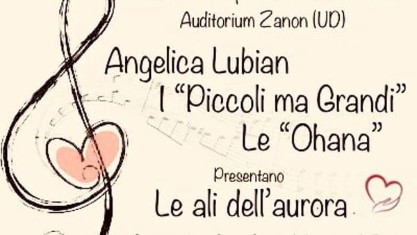 Concerto di beneficenza all'Auditorium Zanon con Angelica Lubian