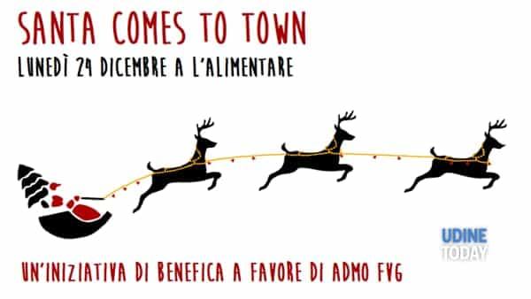 Babbo Natale arriva in via D'Aronco a Udine