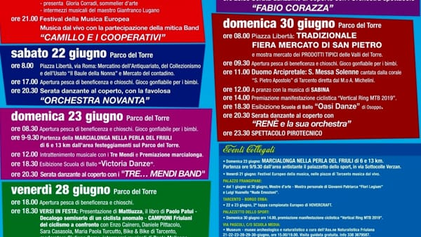 Programma sagra di Tarcento 2019-3