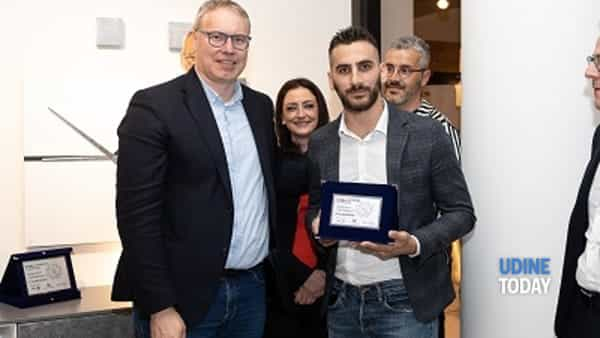 Manuel Cavallin di Treviso vincitore del 6° Concorso Design e Creatività, secondo classificato Zuliani Nicola (Palazzo di Sona Verona), 3° Paolo Morettin (San Giorgio di Nogaro UD)-3