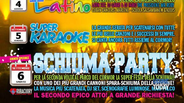 l'estate continua al parco del cormor, questa settimana: schiuma party, karaoke e ballo latino-7