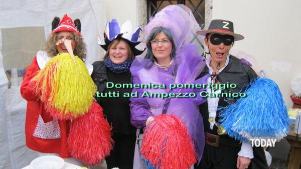 Carnevale in piazza ad Ampezzo