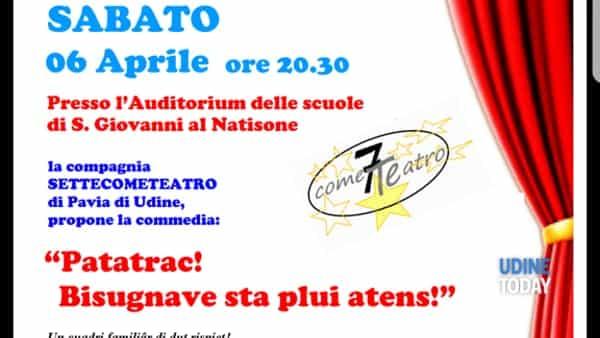 """""""Patatrac! Bisugnave sta plui atens!"""" in scena a San Giovanni"""