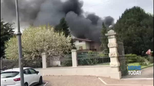 VIDEO Incendio a Zugliano, a fuoco un fabbricato