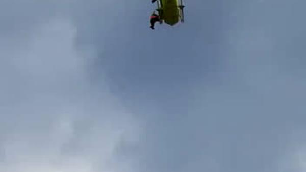 L'elisoccorso regionale recupera un uomo e una donna sulla ferrata