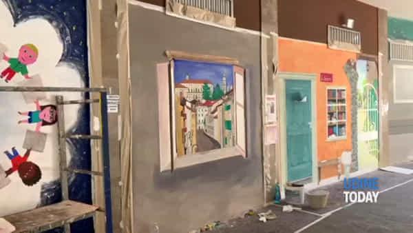 La galleria di via Aquileia cambia volto con i trompe l'oéil