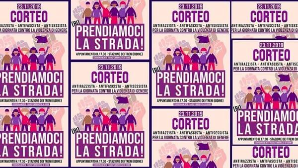 """A Udine il corteo """"Prendiamoci la strada"""" contro la violenza sulle donne"""