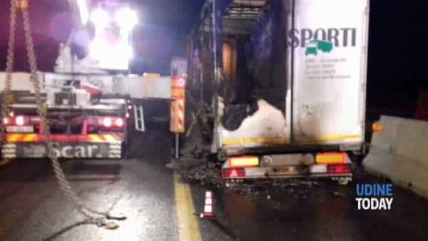 Incidente in A4 fra San Giorgio di Nogaro e Latisana