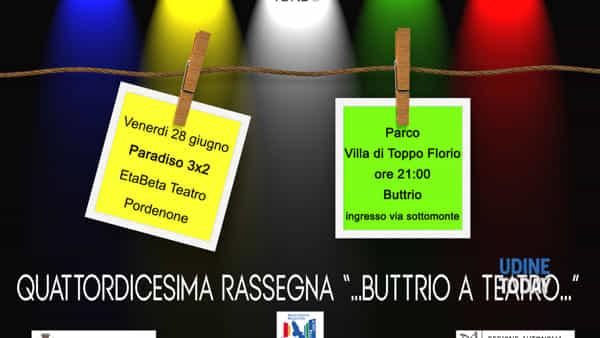 """""""Paradiso 3x2"""" alla 14a rassegna teatrale di Buttrio"""