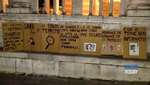 Protesta sarcastica dei cittadini nei confronti dei cartelloni sovversivi apparsi di recente-2