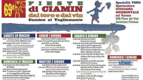 """69e fieste di Ciamin, """"dal toro e dal vin"""""""