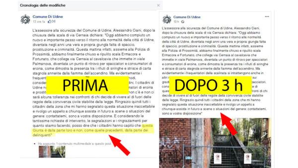 """""""Giunte dalla parte dei delinquenti"""", Fontanini chiede scusa, ma al Pd non basta"""