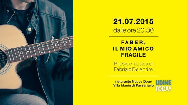 Faber, il mio amico fragile: poesie e musica di Fabrizio De André