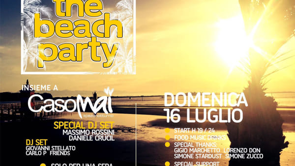 """The beach party"" a Punta Faro"