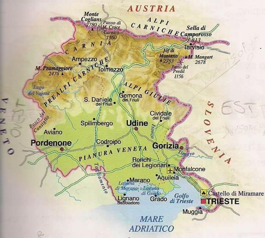 Regione Friuli Venezia Giulia Cartina.Strafalcioni Geografici Sul Friuli All Interno Di Un Testo Scolastico Delle Elementari