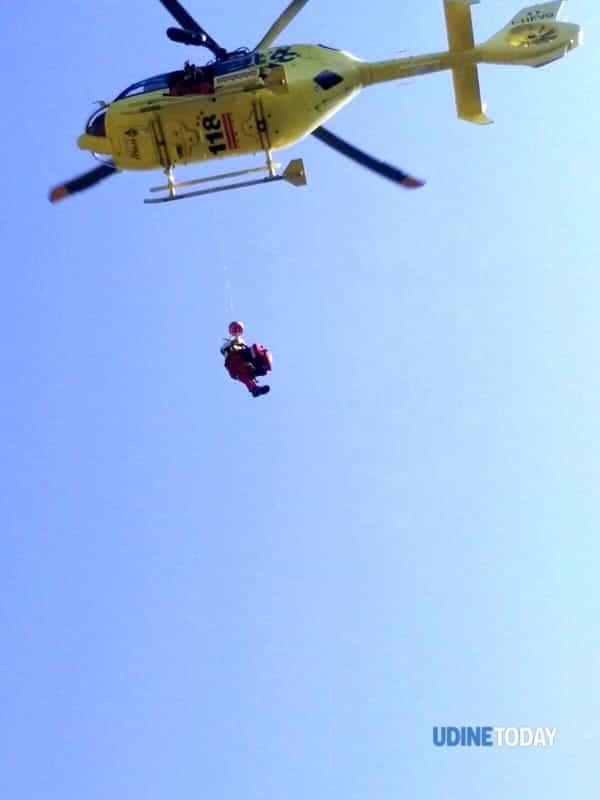soccorso un boscaiolo ferito sopra Ugovizza-3