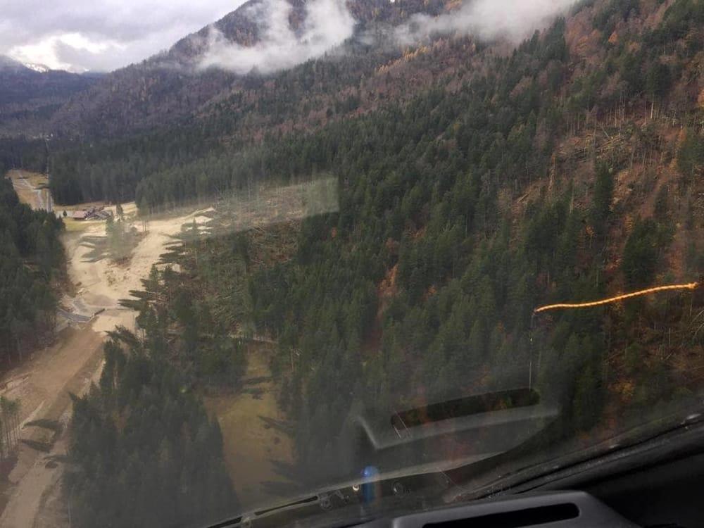 Maltempo: distrutta la foresta dei violini in Val Saisera-2