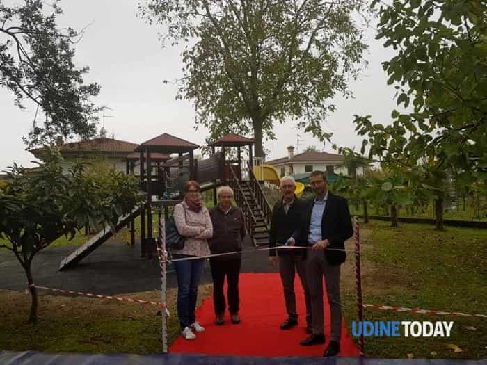 Il Palmanova Outlet Village regala un'area giochi alla Fondazione Casa De Senibus di Aiello-2