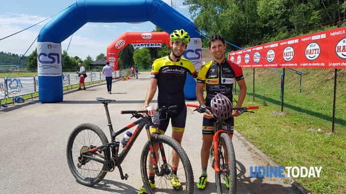 Il vincitore Andrea Bravin a sinistra, Stefano Ferigo a destra-2